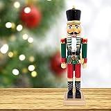The Christmas Workshop 84560 - Figura de Soldado Cascanueces de Madera en Soporte, 50 cm de Alto, Mu...