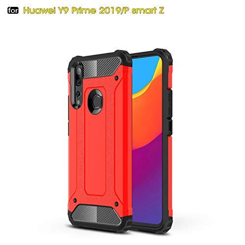 Beovtk Funda Protectora de Huawei P Smart Z /Y9 Prime 2019 Case, Híbrida Rugged Armor Choque Absorción…