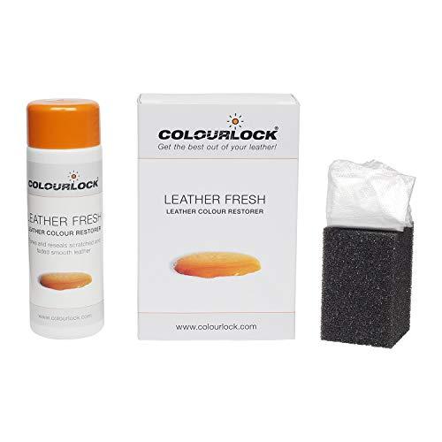 Tinte para piel Colourlock en colores RAL para la reparación de color, restaurador para rozaduras y pequeñas grietas en los asientos de coche, sofás, bolsos, rinconeros y ropa, F034 - Black, 150 ml
