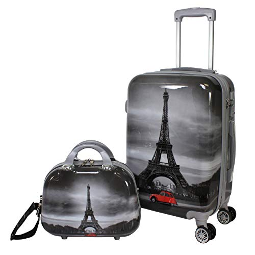 World Traveler Destination Collection 2-Piece Carry-On Luggage Set, Paris, One Size