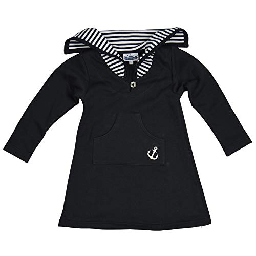 Eisenherz Babykleid Matrosenkleid Jerseykleid im Matrosenstil, 100% Baumwolle in Größe 80