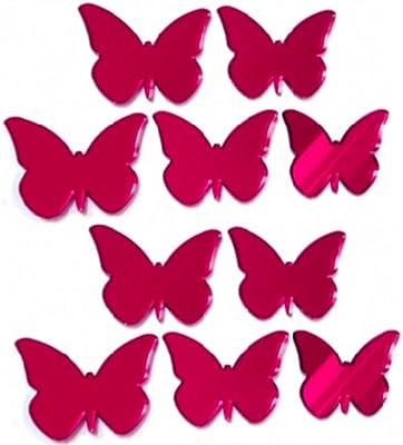 Butterflies Shaped Acrylic Mirror Embellishments 2cm x 2.5cm x 15.