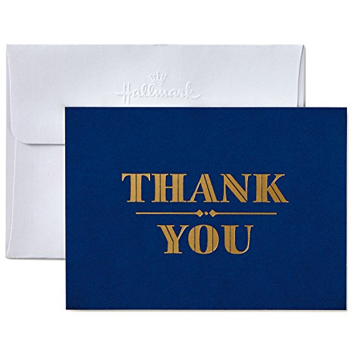 thank you notes Hallmark Thank You Cards with Envelopes, Navy and Gold Foil (10 Thank You Notes) - 5STZ5022