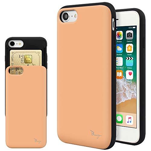 iPhone SE ケース 第2世代 iPhone7 ケース iPhone8 ケース iPhone SE2 ケース 2020年新型 TPU バンパー Bumper 耐衝撃 カード入れ マット加工 スマホケース 擦り傷防止 保護フィルム Breeze 3DP 正規品 I8-JP209