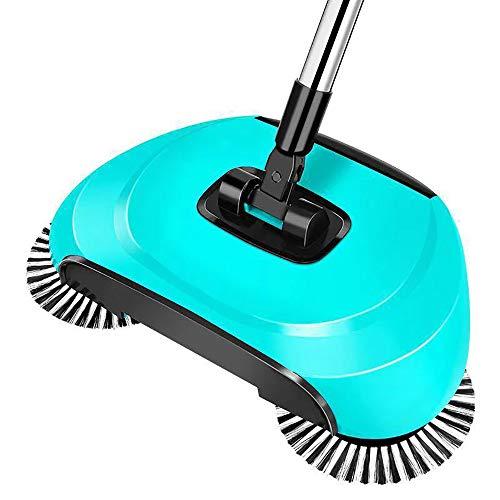AMY Spin Besen, 3 in 1 Haushaltsreinigung Geschoben Automatische Kehrmaschine Besen 360 Drehachse/Kein Strombedarf Für Holz/Kunststoff/Marmor/Bodenfliese,C