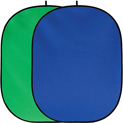 Fancierstudio Chromakey Green Screen Chromakey Blue Screen Collapsible Backdrop Collapsible Reversible Background 5'x7' Chroma-Key Blue/Green By Fancierstudio RE2010 BG