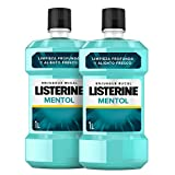 Listerine Enjuague Bucal, Mentol, Pack 2 x 1000 ml