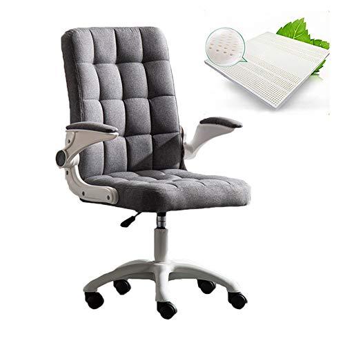 BüRostuhl mit Armlehnen, Schreibtischstuhl, ComputerstüHle, Drehstuhl für VideospielstüHle mit Hochklappbarer Armlehne HöHenverstellbare 360 °Drehung,Grau