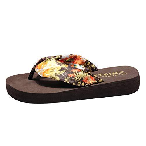 Sandalias Mujer Verano 2019 Planas Moda Sandalias de Vestir Playa Chanclas para Mujer Zapatos Sandalias de Punta Abierta Roma Casual Sandalias Fiesta Cómodo Flip Flop vpass