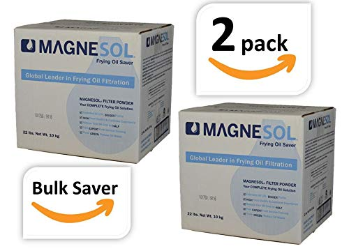 Magnesol Fryer Filter Powder | Dallas Group | Deep Fryer FryPowder | Save Fryer Oil, Extend Oil Life, Fry Oil Filtration, Variable Sizes (2x22lb)