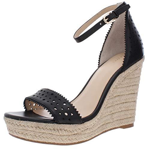 botkier Womens Jamie Leather Sandals Espadrilles Black 9.5 Medium (B,M)