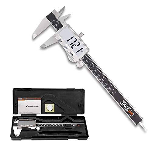 Digitaler Messschieber Schieblehre, TACKLIFE Hochpräzise Edelstahl Messlehre Messwerkzeuge, 150mm/6 Zoll für Abständen und Durchmesser, mit LCD Display, Schutzbox - DC02