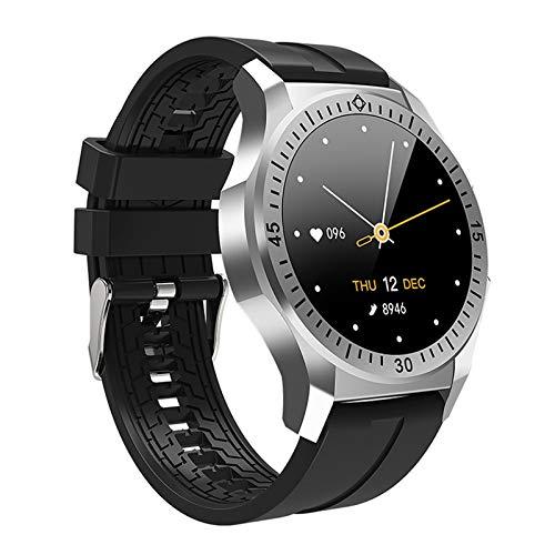 LZXMXR Reloj inteligente, pantalla a color de 1,28 pulgadas, información de reloj deportivo, recordatorio sedentario de llamada inteligente (color negro)