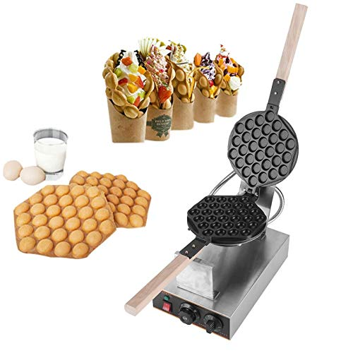 Best Prices! Egg Waffle Maker, Electric Stainless Steel Non Stick Hong Kong Style Bubble Egg Waffle ...