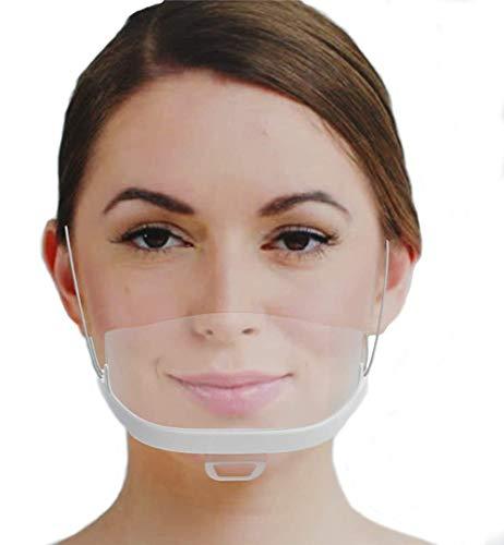 Surfilter 10 Stück transparente Kunststoff-Halbvisiere Elastischer Gesichtsschutz Komfortabel Tragbar für Chef Snack Bar Küche Restaurant Üblich