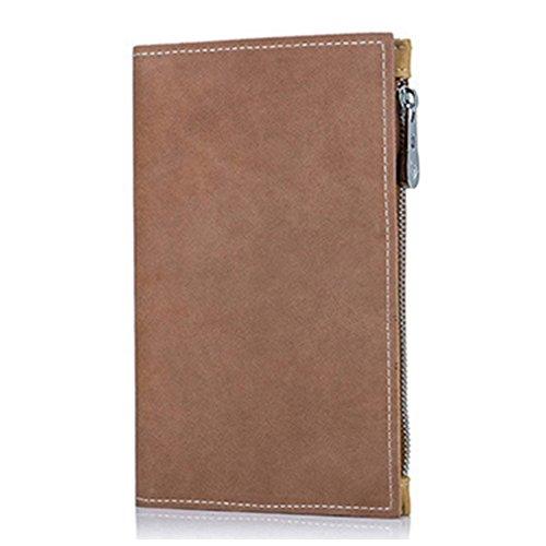【THEBEST】パスポートケース 牛革 パスポート入れ 牛革 ファスナーポケット かわいい パスポートケース 航空券 カード入れ マルチケース 札入れ ブラウン