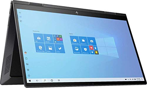 "HP Envy x360 2-in-1 2020 Premium 15.6"" FHD Touch Screen Laptop, 6 Core AMD Ryzen 5-4500U 2.3GHz, 16GB RAM, 256GB SSD, AMD Radeon, No DVD, Wi-Fi, Bluetooth, Webcam, HDMI, Windows 10 (Renewed)"