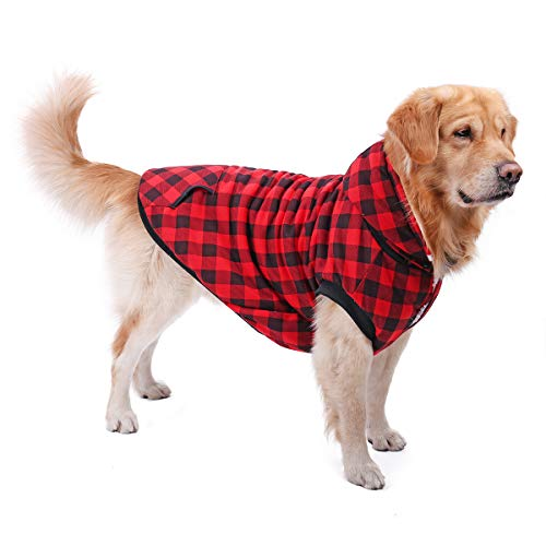PAWZ Road Camisa a Cuadros para Perros Abrigo con Capucha Ropa para...