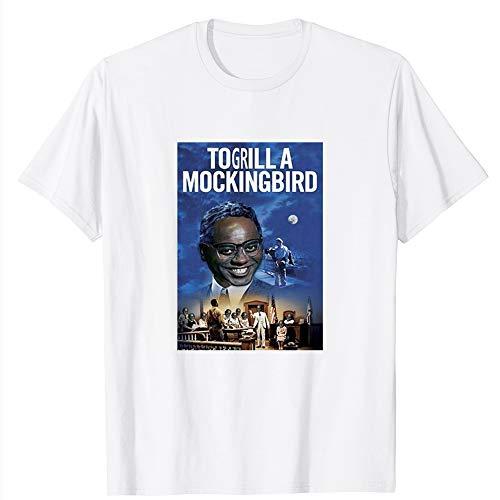 Marble LLC to Grill a Mockingbird Ainsley Harriott Funny Meme Cool Blue Photoshop Film Funny Gift for Men Women Girls Unisex T-Shirt (White-4XL)