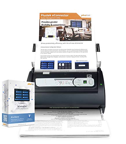 Plustek PSD300 - High-Speed Document Scanner with 50-Sheets Feeder, Multiple Scan Destinations to SharePoint and Office 365
