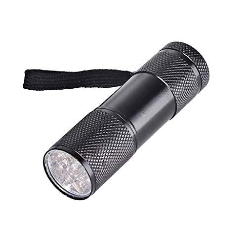 CarrYKT 9 W Lámpara para polimerización de resina UV 9 LED 395 nm linterna UV Blacklight herramienta para joyas