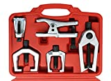 DASBET 6pc Front End Service Tool Kit Ball Joint Separator Pitman Arm Tie Rod Puller