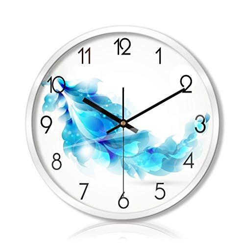 PLOP Reloj de Pared de 14/12 / 16inch Azul silencioso del Reloj del Movimiento del Cuarzo del Reloj de Pared con Pilas for la Oficina en casa de Cocina de los niños Decoración de la Habitación