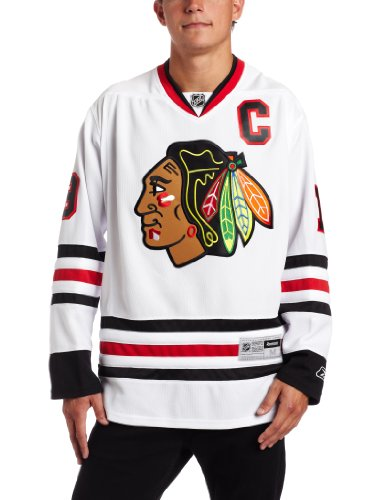 NHL Men's Chicago Blackhawks #19 Jonathan Toews Reebok Edge Premier Player Jersey (White, X-Large)