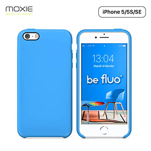 Moxie Cover iPhone 5/5S/SE [BeFluo] Cover in Silicone Sottile e Leggera per iPhone SE, iPhone 5S e iPhone 5, Interno in Microfibra, Cover Antiurto e AntiGraffio per iPhone SE/5S/5