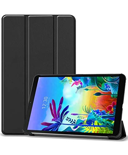 ProCase LG G Pad 5 10.1 FHD Case, Slim Light Smart Cover Trifold Stand Hard Shell Folio Case for 10.1 inch LG G Pad 5 2019 (Model LM-T600/ LM-T605) -Black