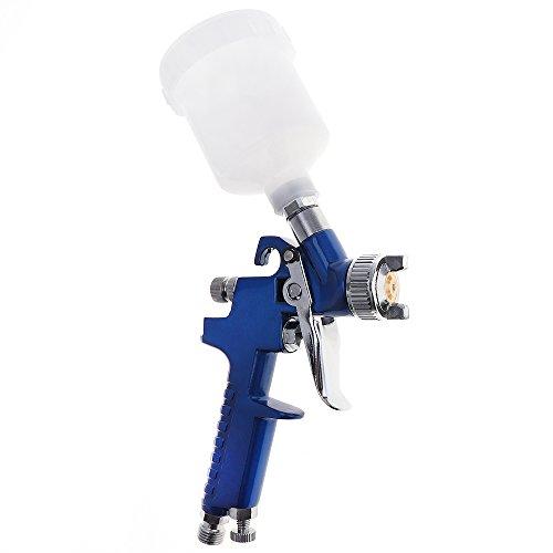 【The Best Deal】OriGlam 0.8MM Nozzle H-2000 Professional HVLP Spray Gun Mini Air Paint Spray Guns Airbrush for Painting Car Aerograph