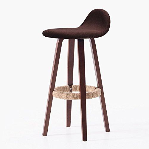 Guo shop- Continental Simple, En Bois, Coussin De Forme Géométrique, Tabouret De Jambes Foncé Bar Chaise Haute Créative Chaise Européenne Tabouret De Bar Vintage Hauteur 70 Cm Bonne chaise