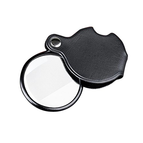 Liying Neu Handlupe Leselupe Lesehilfe Vergrößerungsglas Tasche Lupe 10 Fach Taschenlupe Durchmesser 60mm