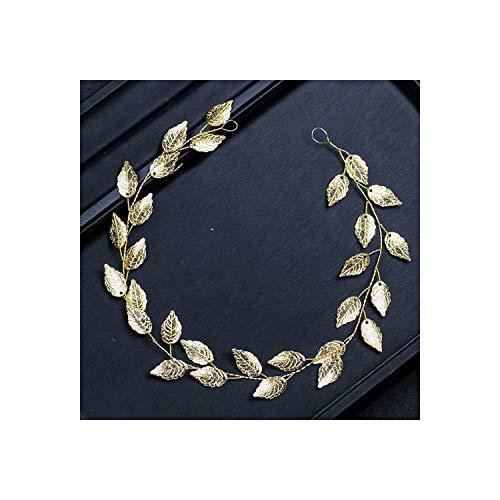 Bladeren Zilver Bloemen Bruids Haar Accessoires Handgemaakte Kristal Haar Sieraden Bruiloft Accessoires TS004 Goud
