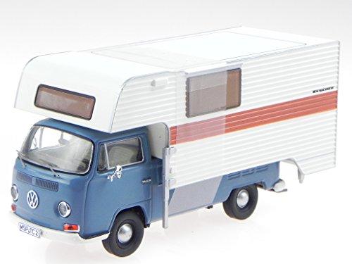 VW T2a Pritsche Camping Tischer blau Modellauto 11355 Premium Cl. 1:43