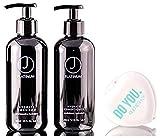 J Beverly Hills Platinum Hydrate Shampoo & Conditioner Duo-Set (mit Sleek Compact Mirror) 12 Unzen /...