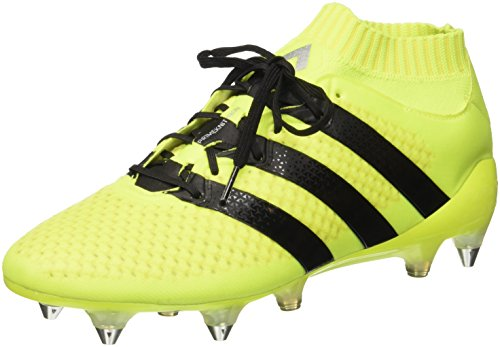 adidas Ace 16.1 Primeknit SG, Botas de fútbol Hombre, Amarillo (Amasol/Negbas/Plamet), 39 1/3