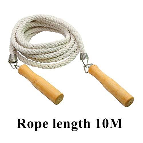 Zzxx Cross touw 3-20m cross touw, springtouw, training fitness touw, houten grip fitness groep, gewichtsverlies fitness apparatuur