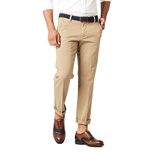 Dockers Men's Slim Fit Workday Khaki Smart 360 Flex Pants, New British Khakhi (Stretch), 32W x 32L