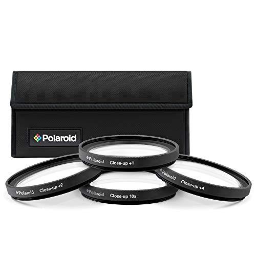 Polaroid 58mm Close-Up Makrolinsen Nahlinsen 4-Stück-Filterset für Makrofotografie - Inklusive +1 +2 +4 +10 - und Filtertasche