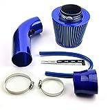 Universale auto automobile racing aria filtro Alumimum Tubo di flusso Kit Blu