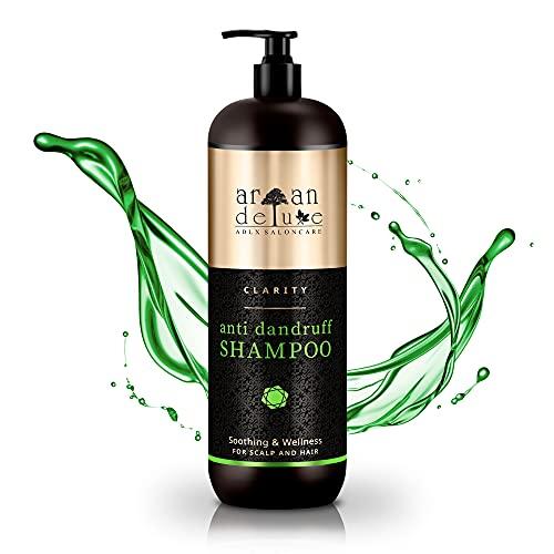 Argan Deluxe Shampoo Antiforfora Professionale 1000 ml - Shampoo Professionale Capelli Uomo e Donna – Prodotti per Capelli - Un Valido Aiuto Contro Forfora, Prurito e Secchezza del Cuoio Capelluto