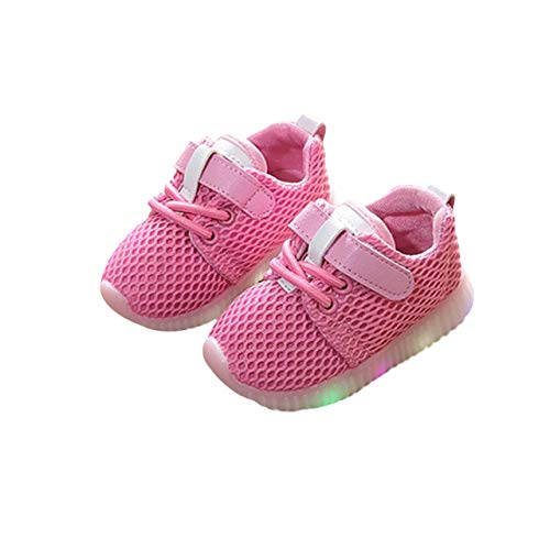 DEBAIJIA KleinkindLED Leuchtende Bunte helle Schuhe Mesh Baby Mädchen Junge Kinder Schuhe mit Licht Blinkende Turnschuhe für Kinder Anti-Rutsch Unisex Mode Geeignet für 1-6 Jahre Kinder
