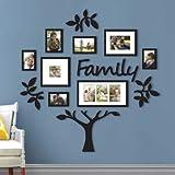 Uteruik Acrílico Family Tree Frame Decal Etiqueta engomada Impermeable Imagen del Papel Pintado del Dormitorio Incluir - 1PCs