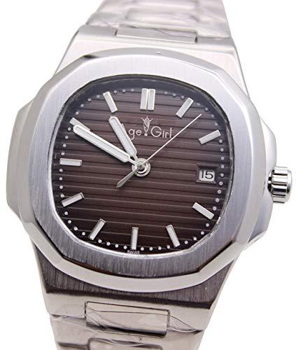 GFDSA Automatische horloges Luxe topmerk Automatisch mechanisch Heren Lichtgevend zilver Koffie Roestvrij staal Transparant Glas Achterkant Zwart Blauwe horloges
