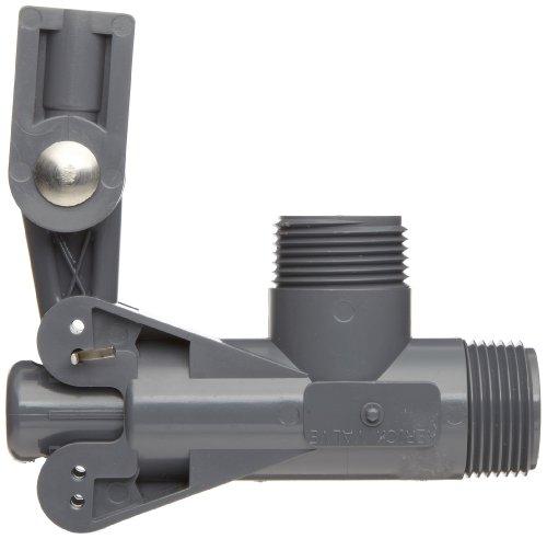 "Kerick Valve PS100SS PVC Float Valve, Standard Mount, 60 gpm at 60 psi, 1"" NPT Male"