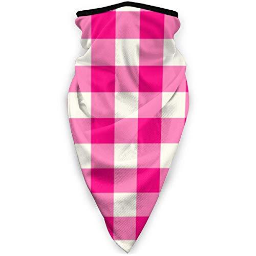 Neck Gaiter, halswarmer, motief Vichy Rosa, decoratief, windbestendig, voor jacht, motorfiets, ski's