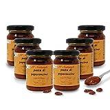 Carioni Food & Health Pasta di Peperoncino per Sugo All'Arrabbiata, 120 Grammi (Confezione da 6 Pezzi)