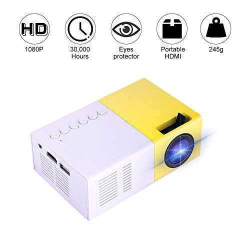 professionnel comparateur Mini projecteur Garsent, projecteur de cinéma maison LED HDMI HD 1080p 1500 lumens… choix