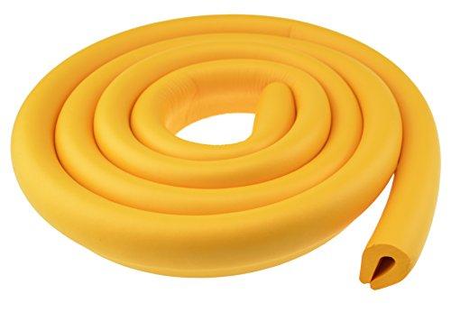 FiveSeasonStuff All Season Premio Paraspigoli Protezione Guradia Sicurezza Kits per Bambini / Scegliere U-Forma Striscia Spigolo, L-Forma Jumbo e Standard Striscia Spigolo / (Doppia Faccia Arancione 1*2Metro U-Forma Striscia Spigolo (T: 5-8mm) LM77)